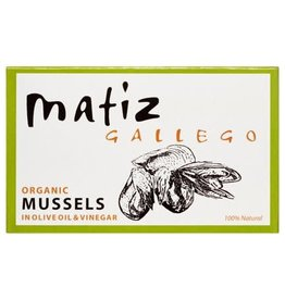 MATIZ Organic Mussels, Tinned in Olive Oil & Vinegar 4 oz