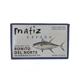 MATIZ Bonito, Tinned in Olive Oil 4 oz