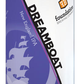"Foundation Brewing ""Dreamboat"" New England IPA Cans 4pk - 16oz"