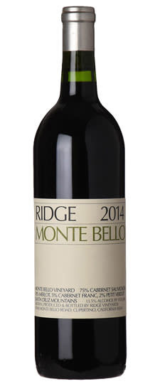 Ridge Montebello 2014 - 750ml
