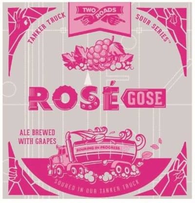 "Two Roads ""Rosé Gose"" Cans 4pk - 16oz"