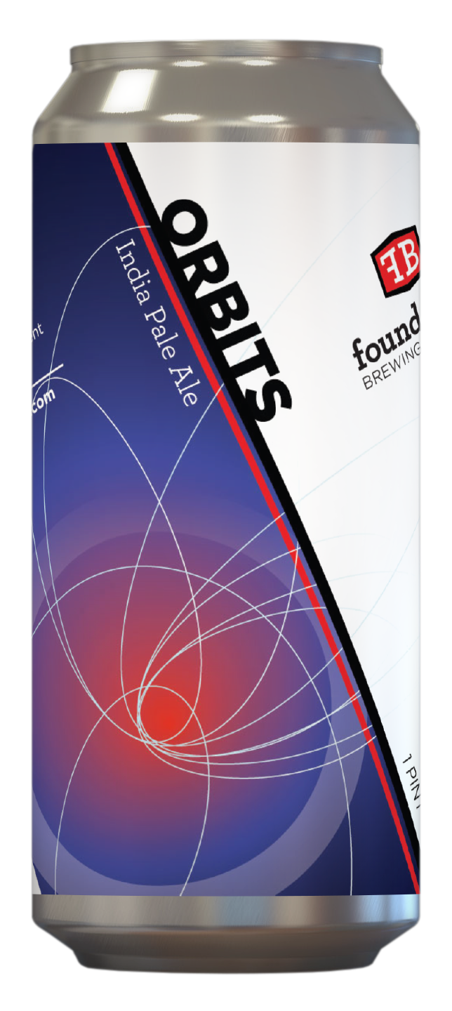 """Foundation Brewing """"Orbits"""" IPA Cans 4pk - 16oz"""