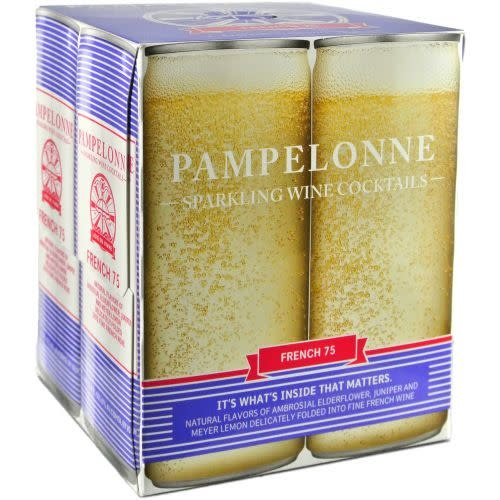 """Pampelonne """"French 75"""" Sparkling Wine Cocktails Cans 4pk - 250ml"""