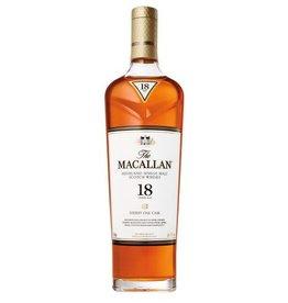 Macallan Sherry Oak 18 Year Scotch 750ml