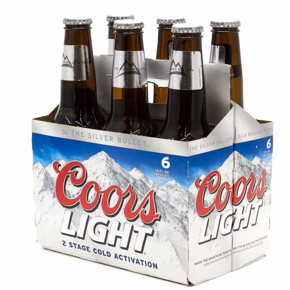 Coors Light Bottles 6pk -12 oz