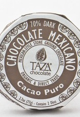 Taza Chocolate Round Cacao Pure 70%