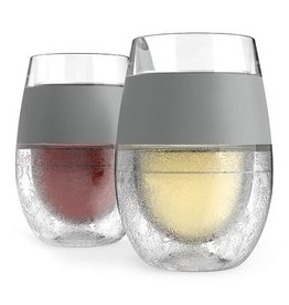HOST Freeze Cooling Wine Glasses GREY (Set of 2)
