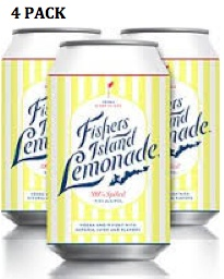 "Fishers Island ""Spiked"" Lemonade Cans 4pk - 12oz"
