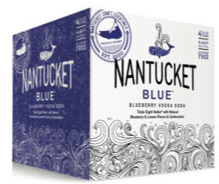"Triple Eight ""Nantucket Blue"" Blueberry Vodka Soda Cans 4pk"