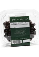 Jansal Valley Dark Chocolate Covered Cranberries 6 oz