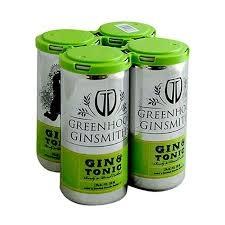 Greenhook Ginsmiths Gin & Tonic Case 12/4pk - 200ml