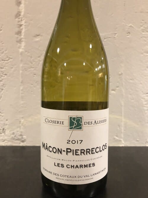 """Closerie des Alisiers Macon-Pierreclos """"Les Charmes"""" 2017 - 750ml"""