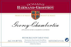 Harmand Geoffroy Gevrey Chambertin 2016 - 750ml