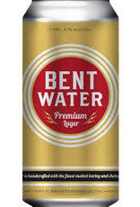 Bent Water  Brewing Company Premium Lager Cans 4pk - 16oz