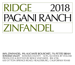 Ridge Pagani Ranch Zinfandel 2018 - 750ml