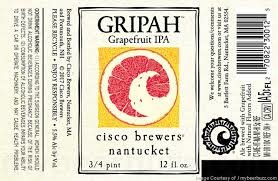Cisco Brewers Gripah Grapefruit IPA Case Cans 2/12pk - 12oz