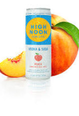 High Noon Sunsips Peach Vodka and Soda Cans 4pk - 355ml