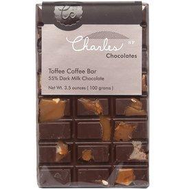 Charles Chocolates Toffee  Coffee Bar  3.5 oz