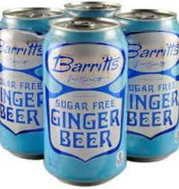Barritt's Diet Ginger Beer Cans 4pk - 12oz