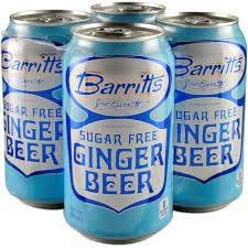 Barritt's Diet Ginger Beer Cans 4pk - 12oz