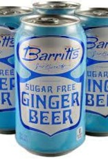 Barritt's Diet Ginger Beer Case Cans 6/4pk - 12oz