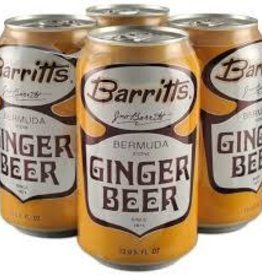 Barritt's Ginger Beer Case Cans 6/4pk - 12oz