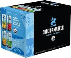 Crook & Marker Spiked Coconut Variety Pack Cocktail 8pk - 11.5oz