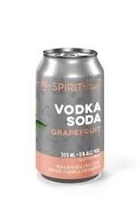 Spirit Fruit Grapefruit Soda Cocktail Case 6/4pk - 12oz