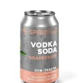 Spirit Fruit Grapefruit Soda Cocktail 4pk - 12oz