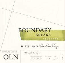 Boudary Breaks Ovid Line North Medium Dry Riesling Finger Lakes 2016 - 750ml
