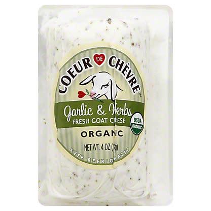 Coeur de Chevre Goat Cheese Garlic & Herb 4 oz