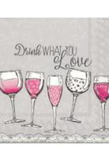 IHR Cocktail Napkin  Drink What You Love