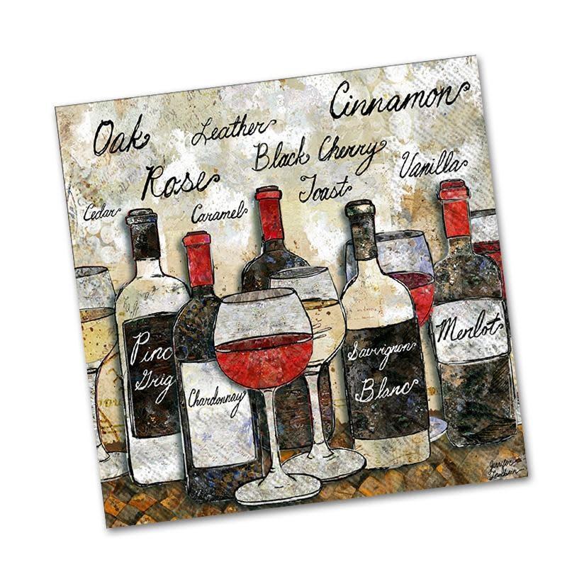 IHR Cocktail Napkin Wine Soiree
