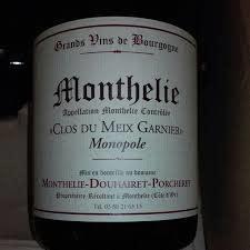 """Monthelie-Douhairet Monthelie """"Clos du Meix Garnier"""" Monopole Rouge 2017 - 750ml"""