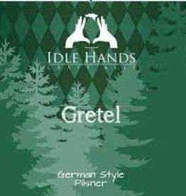"""Idle Hands """"Gretel"""" German Pilsner Case Cans 6/4pk - 16oz"""