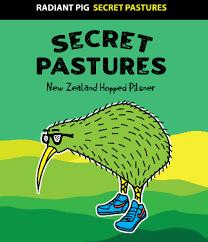 """Radiant Pig """"Secret Pastures"""" New Zealand Style Pilsner Cans 4pk - 16oz"""
