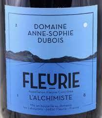 """Anne Sophie Dubois Fleurie """"l'Alchimiste"""" 2019 - 750ml"""