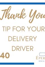 Driver Tip - $40