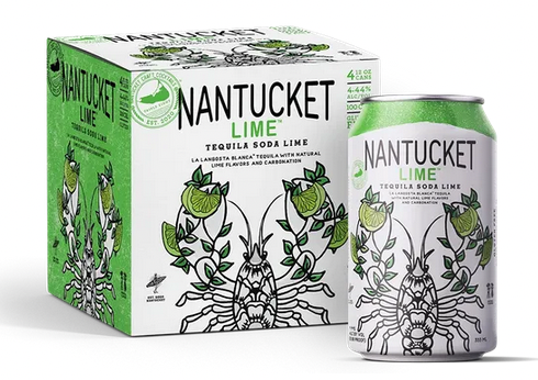 """Triple Eight """"Nantucket Lime"""" Tequila Soda Cans 4pk"""