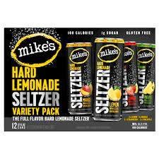 Mike's Hard Seltzer Lemon Variety Cans 12pk - 12oz
