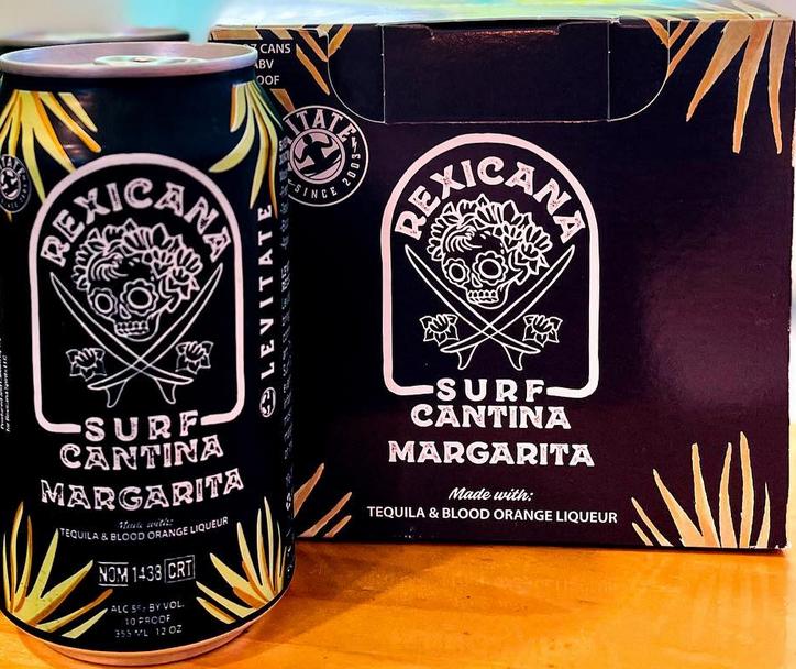 Levitate Rexicana Surf Cantina Margarita Case Cans 6/4pk