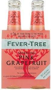 Fever Tree Sparkling Pink Grapefruit Water 4pk - 6.8oz