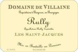 """Domaine de Villaine Rully """"Les Saint-Jacques"""" 2018 - 750ml"""