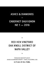 "Ashes & Diamonds Cabernet Sauvignon No. 2 ""Red Hen Vineyard"" 2017 - 750ml"
