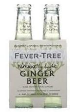 Fever Tree Refreshingly Light Ginger Beer 4pk - 6.8oz