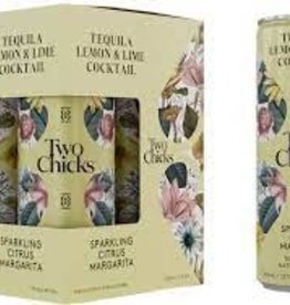 """Two Chicks """"Citrus Margarita"""" Sparkling Tequila and Lime Cocktail Case Cans 6/4pk - 12oz"""