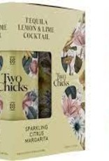 """Two Chicks """"Citrus Margarita"""" Sparkling Tequila and Lime Cocktail Cans 4pk - 12oz"""