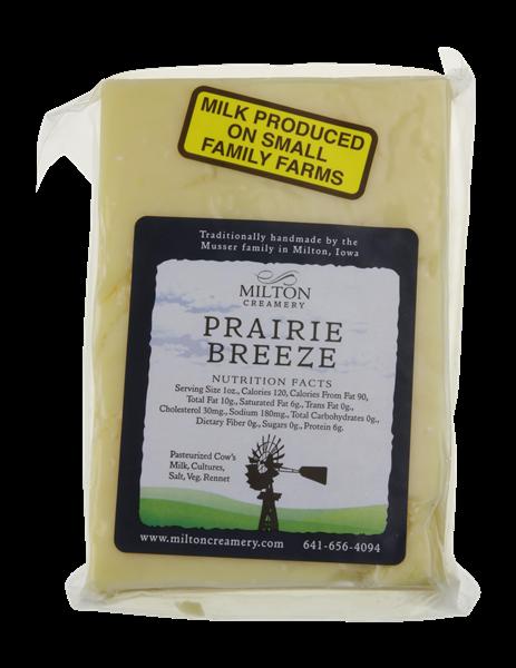 """Milton """"Prairie Breeze"""" White Cheddar Cheese 6 oz"""