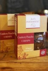 Jan's  Farmhouse Jan's Farmhouse Cranberry Pistachio Crisps 4 oz