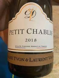 Domaine Yvon et Laurent Vocoret Petit Chablis 2018 - 750ml